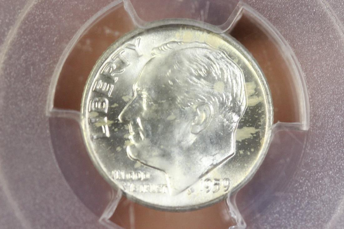 A Graded 1959-D Roosevelt 10 cents - 5