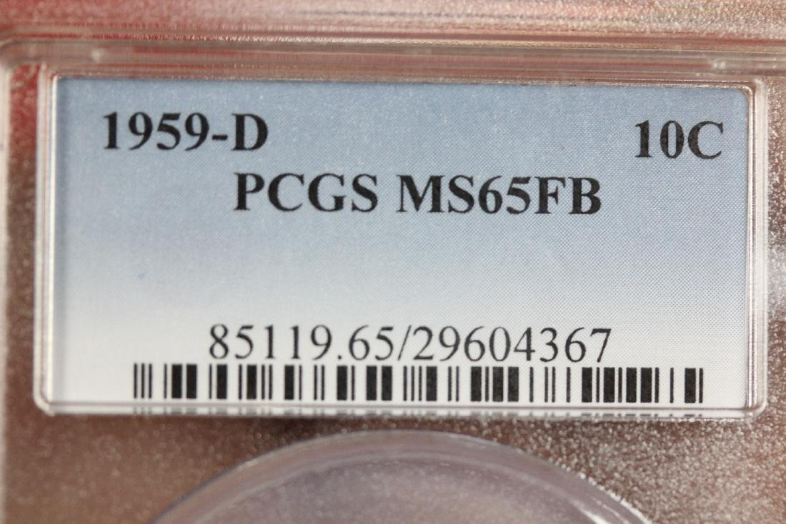 A Graded 1959-D Roosevelt 10 cents - 6