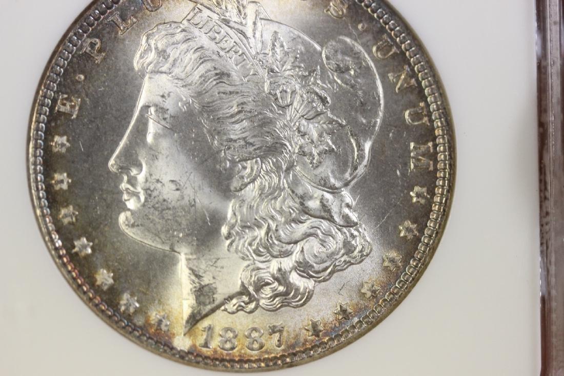 A Graded 1887 Morgan Silver Dollar - 8