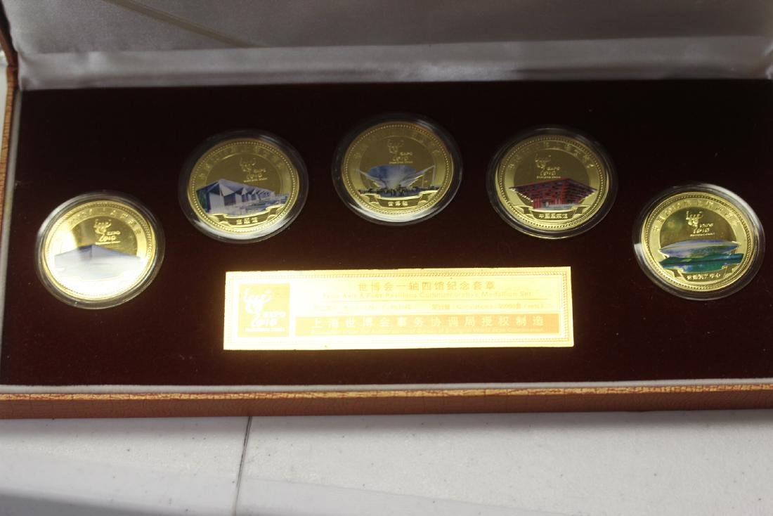 A Chinese 2010 Expo Coin Set