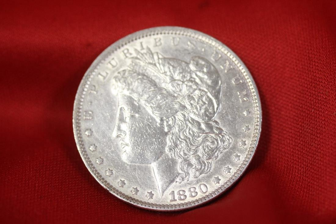 An 1880 Morgan Silver Dollar