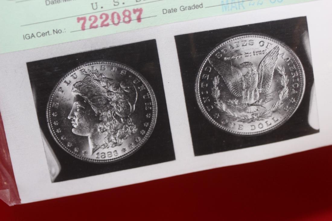 An 1883 P Morgan Silver Dollar - 4
