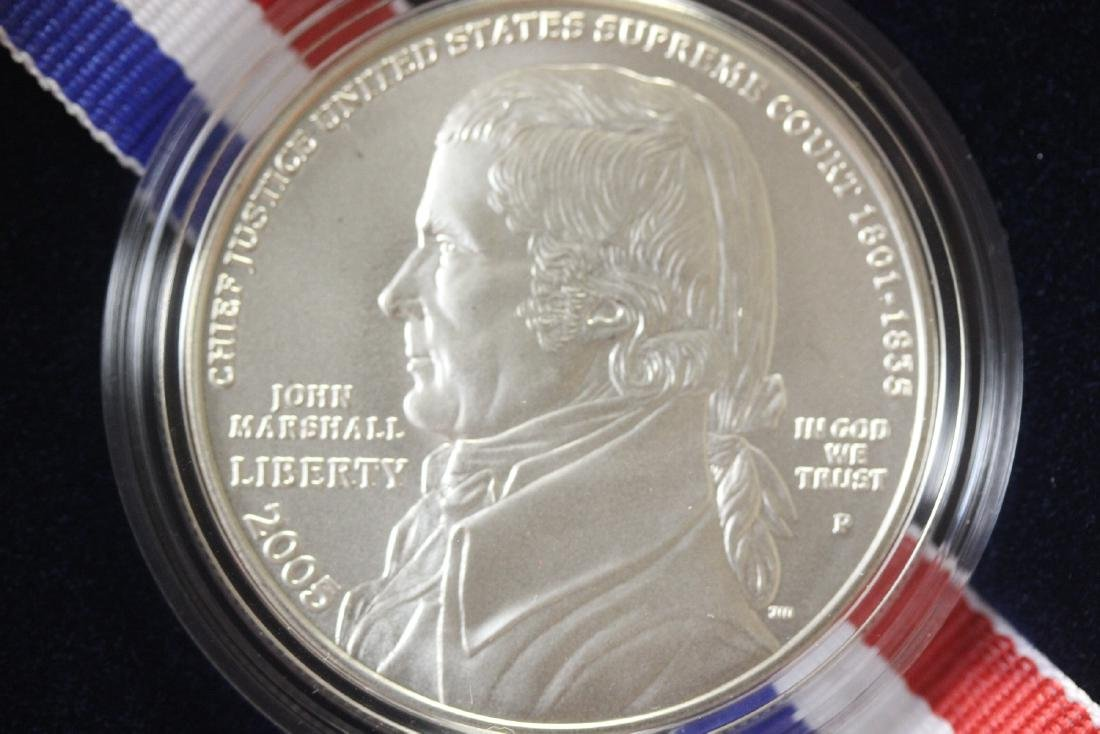 A 2005 Chief Justice John Marshall Silver Dollar - 2