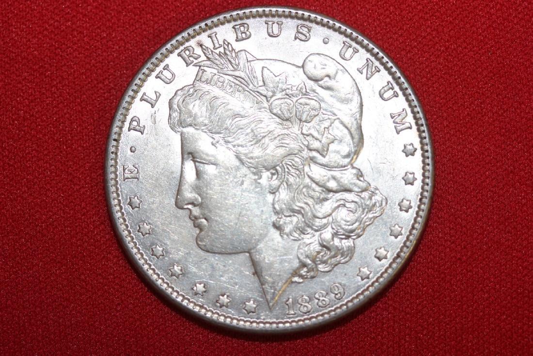 An 1889 Morgan Silver Dollar