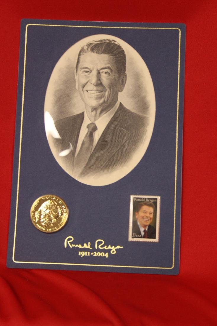 Ronald Reagan Stamp and Coin Set