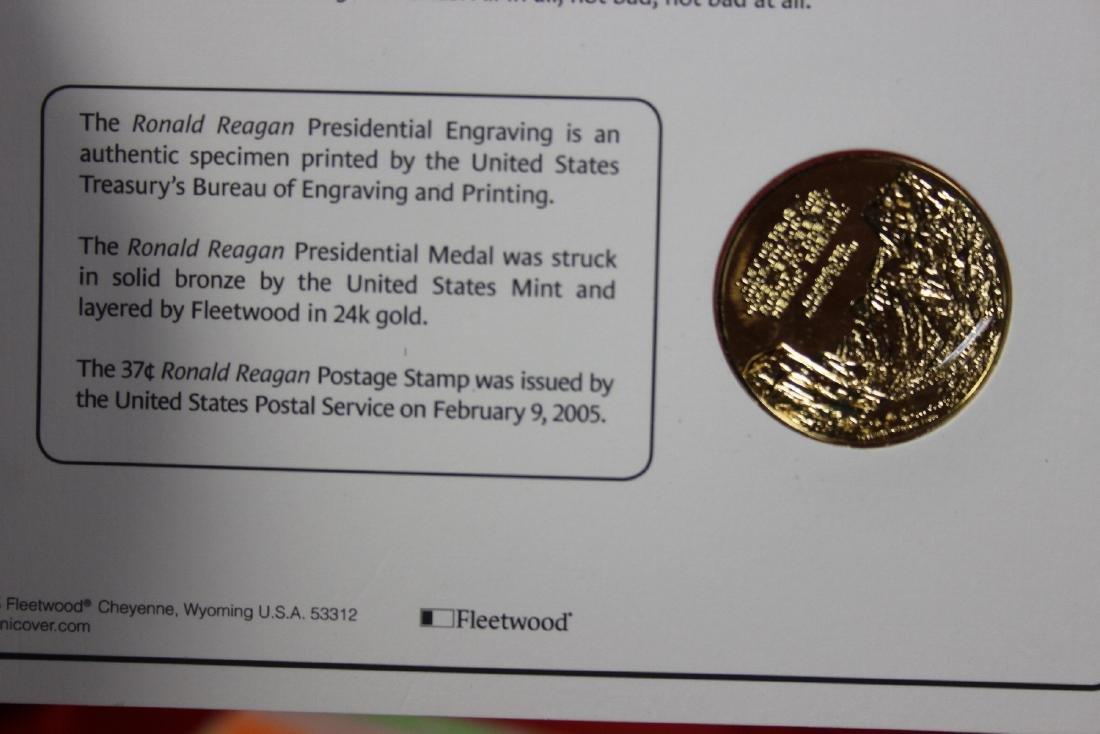 Ronald Reagan Stamp and Coin Set - 4