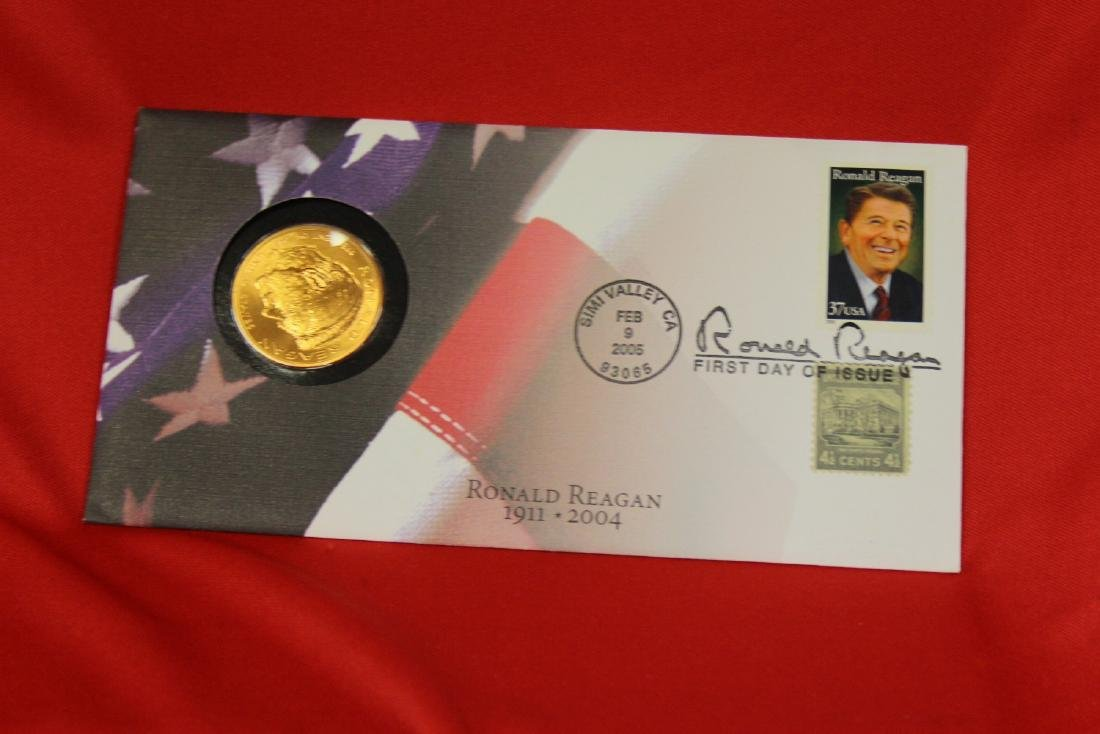 Ronald Reagan Stamp and Coin Set