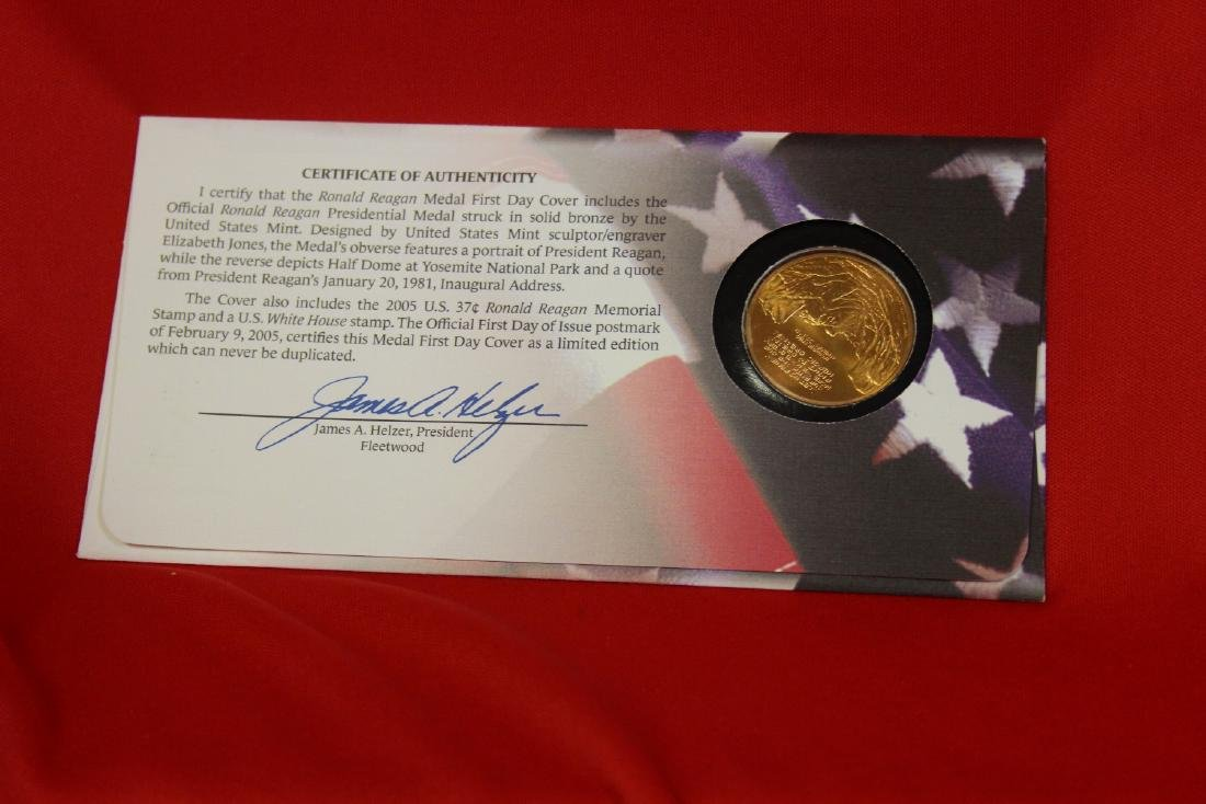 Ronald Reagan Stamp and Coin Set - 2