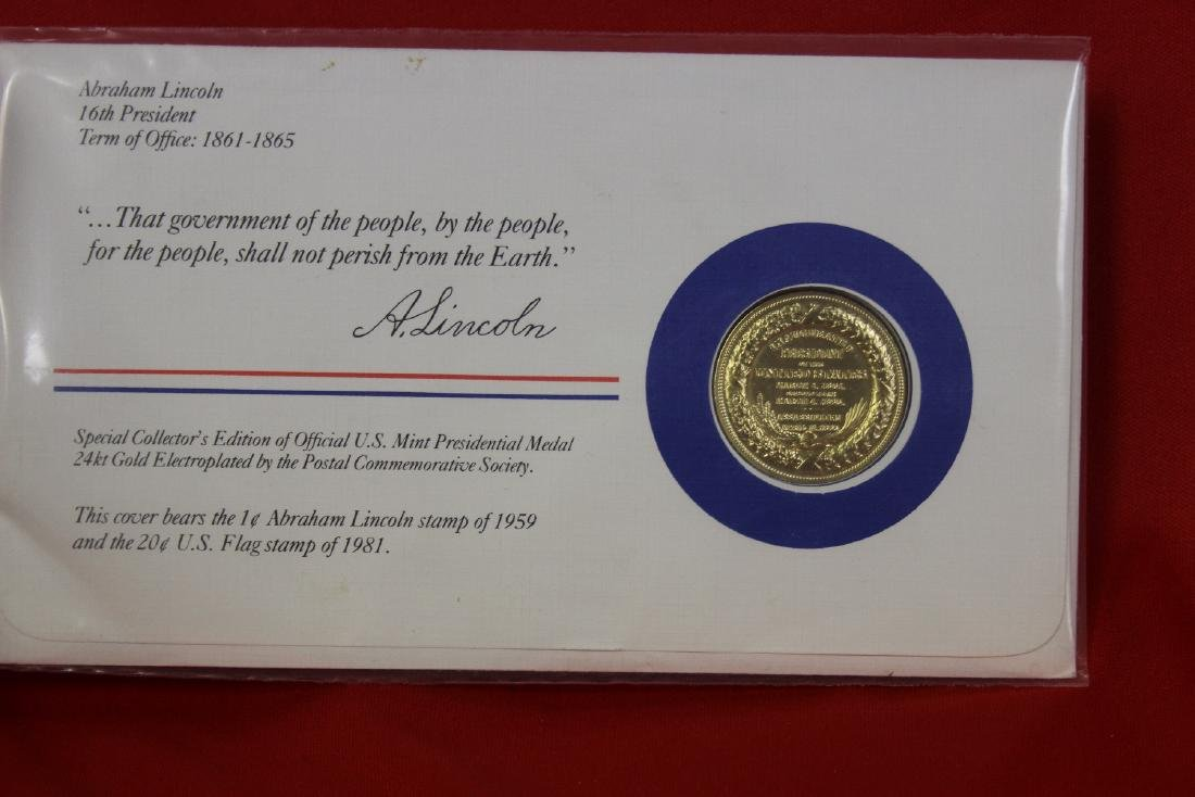 Abraham Lincoln Stamp and Coin Set - 2