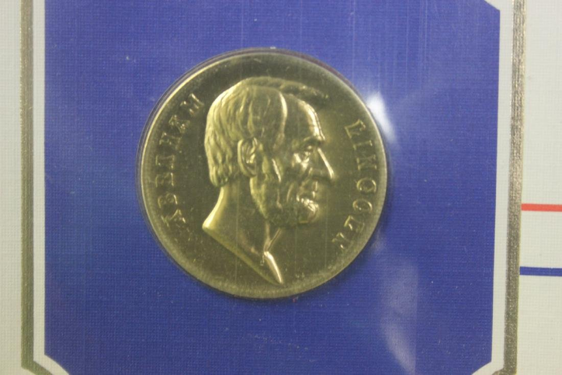 Abraham Lincoln Stamp and Coin Set - 4