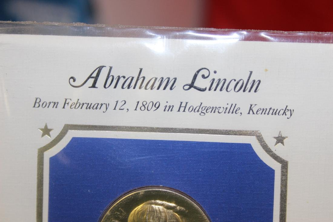 Abraham Lincoln Stamp and Coin Set - 5