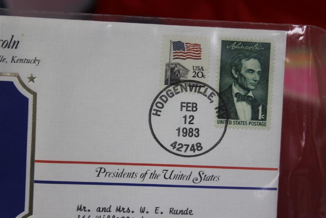 Abraham Lincoln Stamp and Coin Set - 6