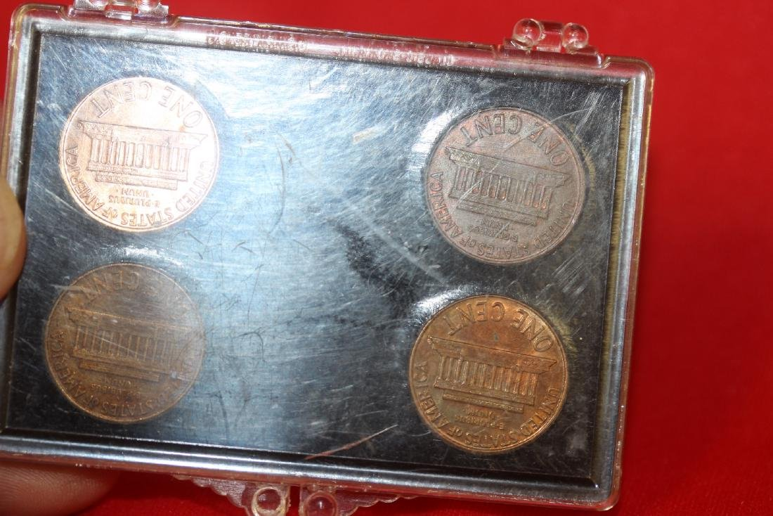 A 1960 Small and Large Date Lincoln Pennies - 2