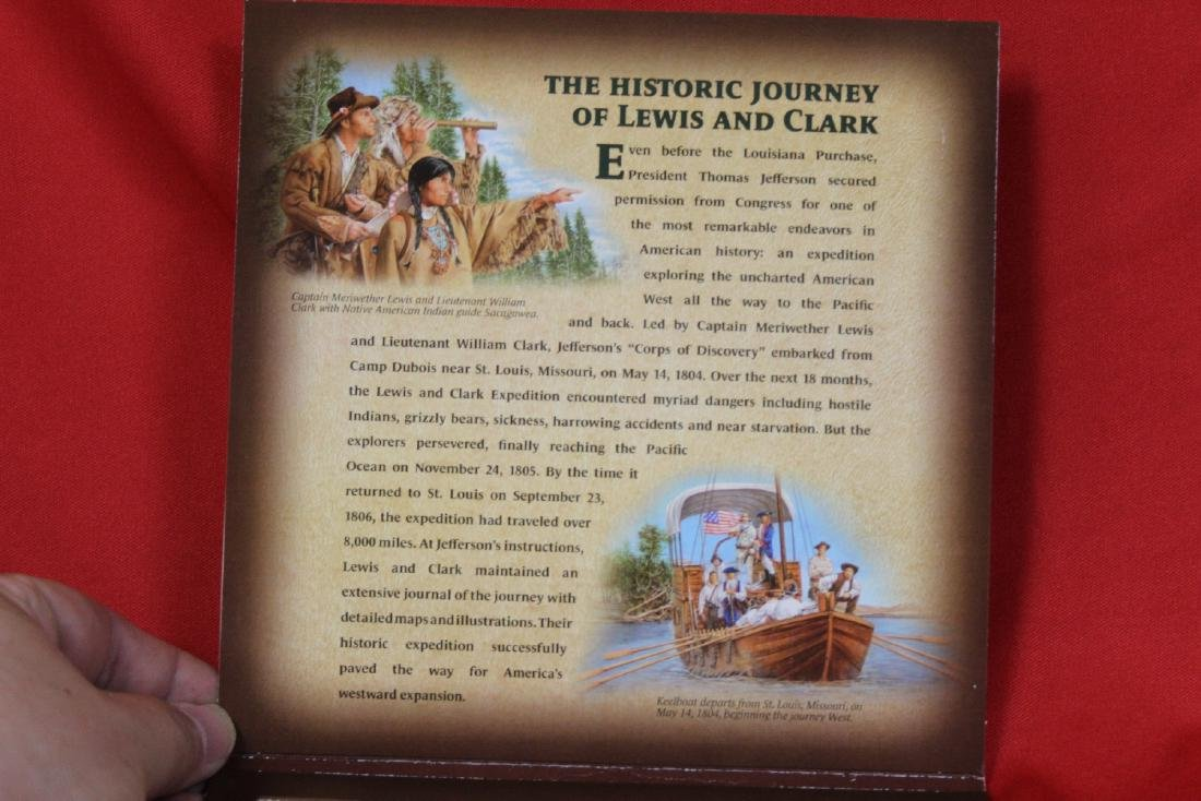 A Rare Lewis and Clark Stamp and Coin Set - 2