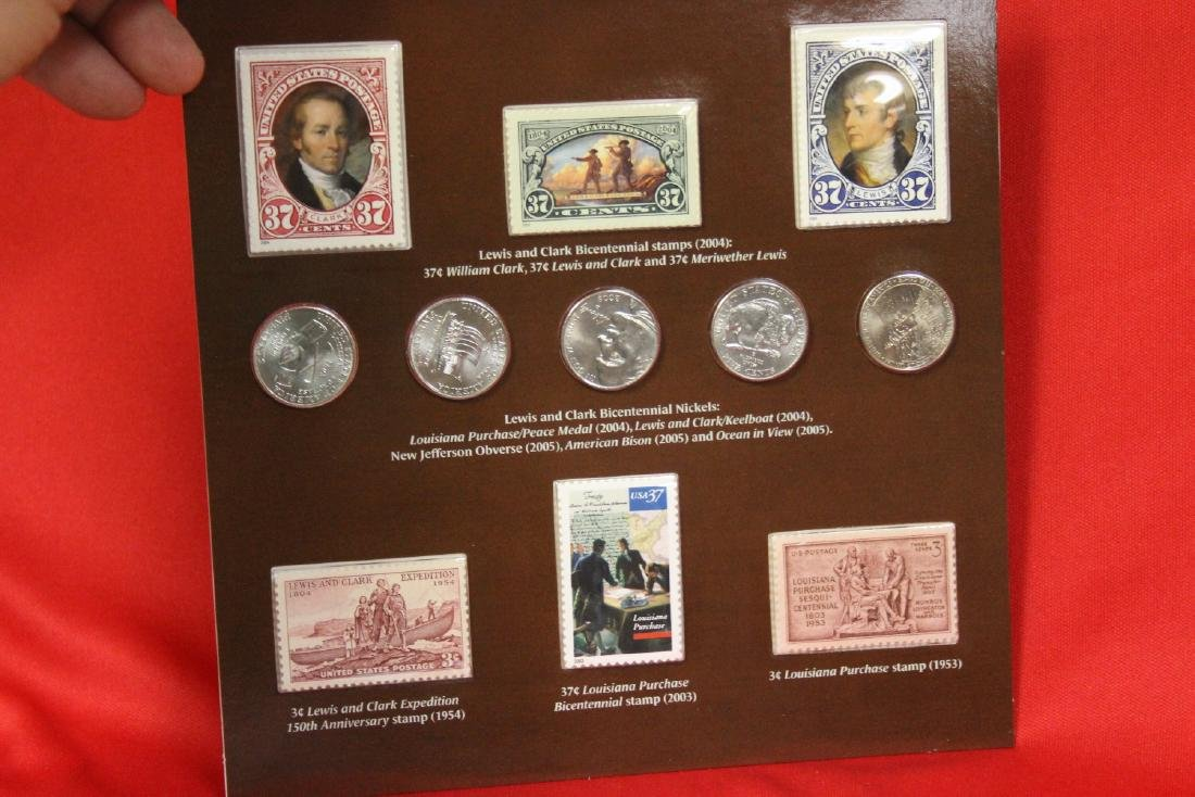A Rare Lewis and Clark Stamp and Coin Set - 3