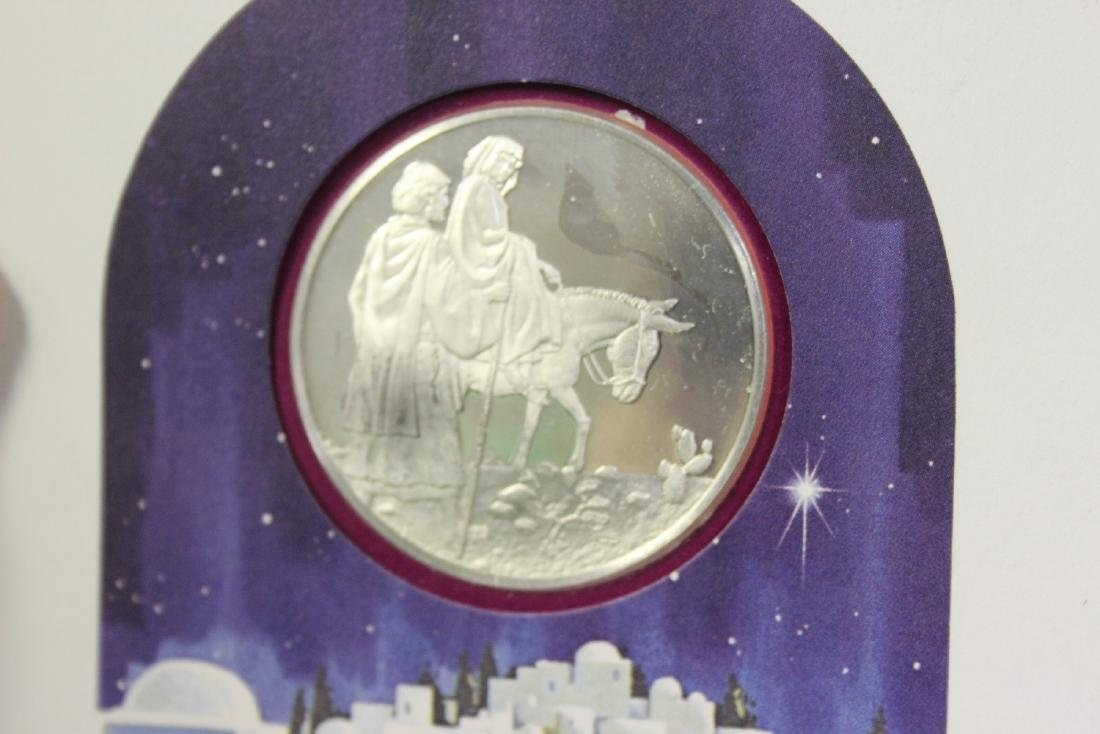A Sterling Silver Christmas Coin - 2