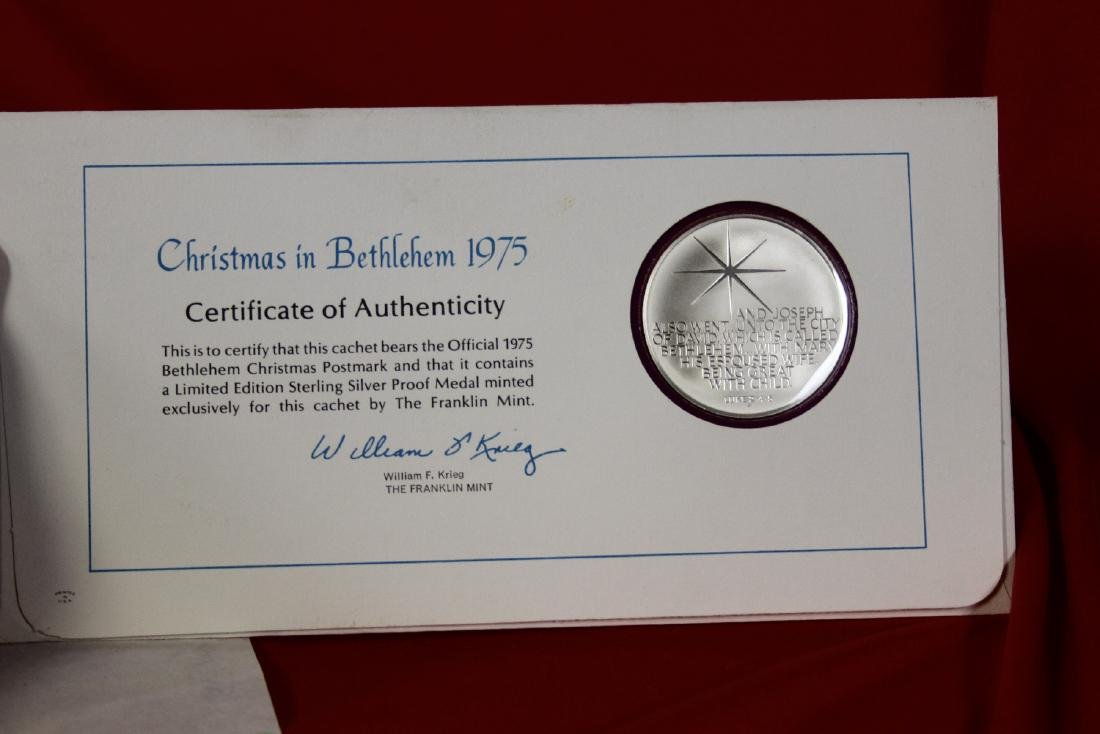 A Sterling Silver Christmas Coin - 5