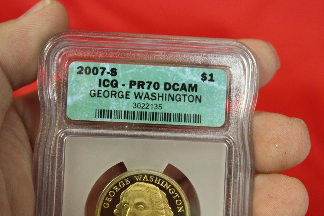 A 2007-S George Washington One Dollar Coin - 3