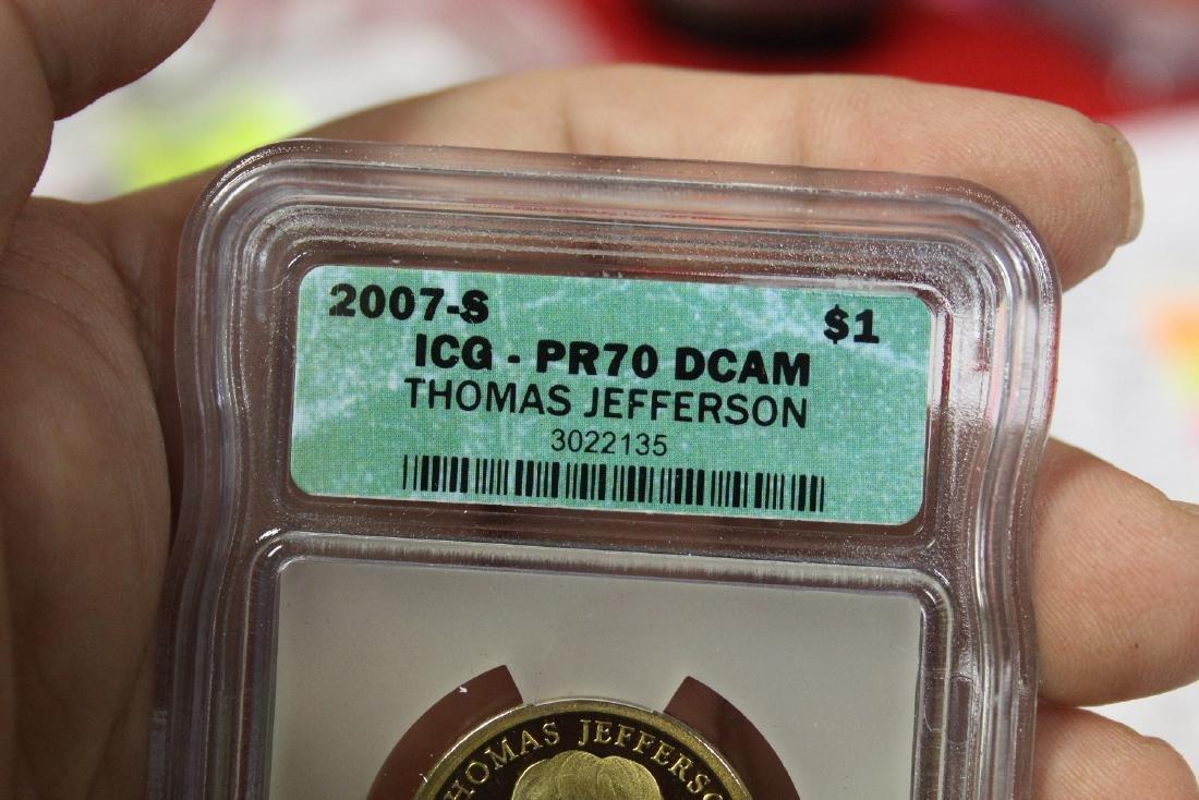 A 2007-S Thomas Jefferson One Dollar Coin - 3