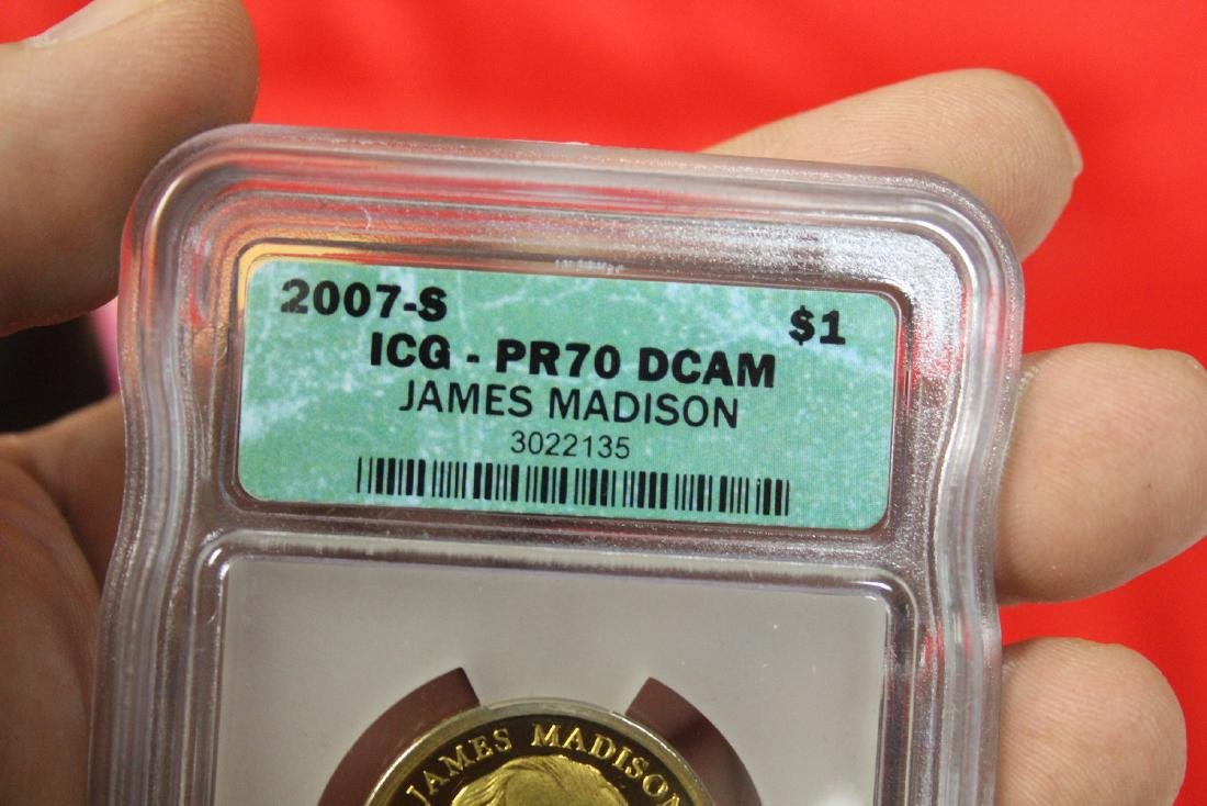 A 2007-S James Madison One Dollar Coin - 2