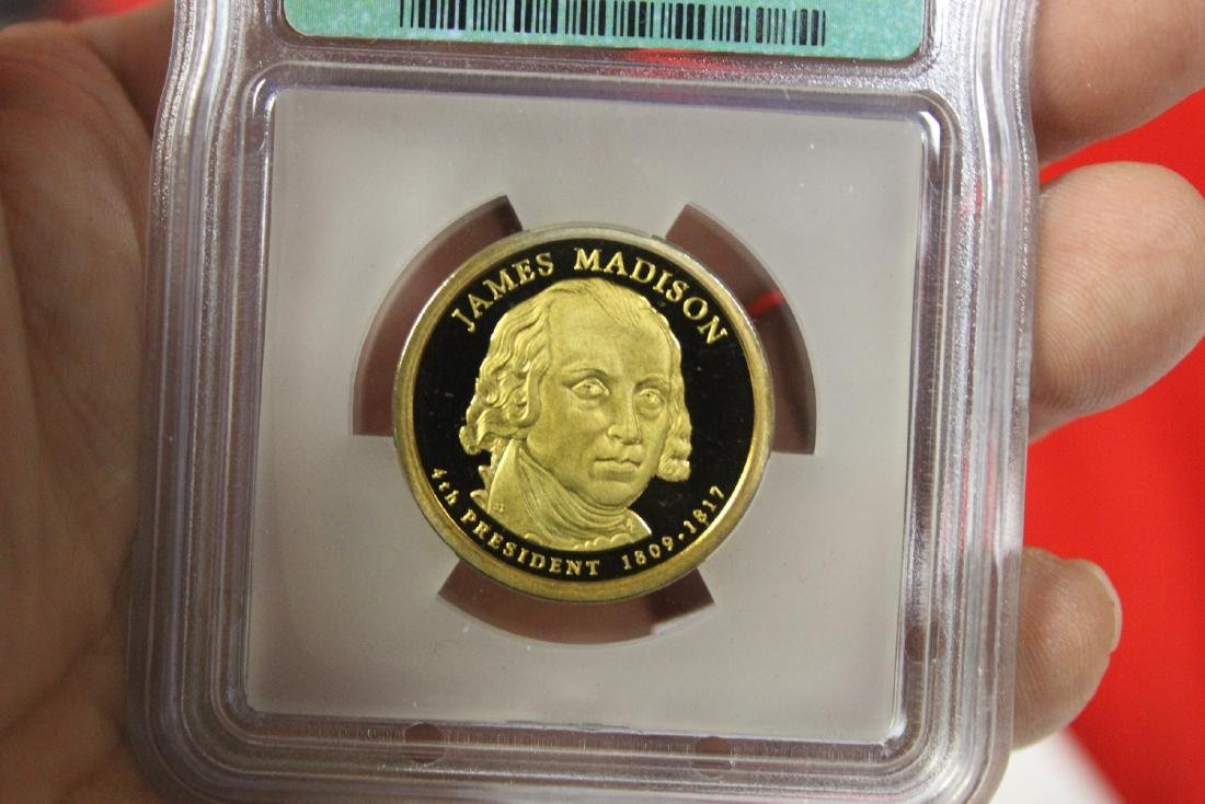 A 2007-S James Madison One Dollar Coin - 3