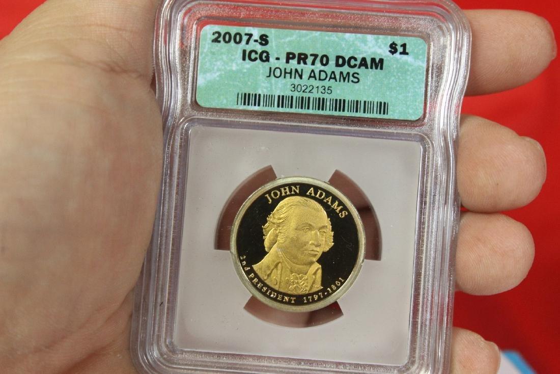 A 2007-S John Adams One Dollar Coin