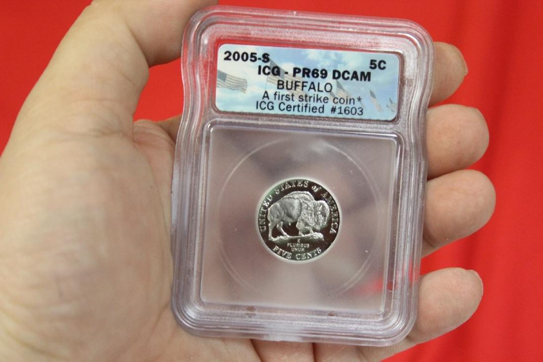 A 2005-S Graded Buffalo Nickel
