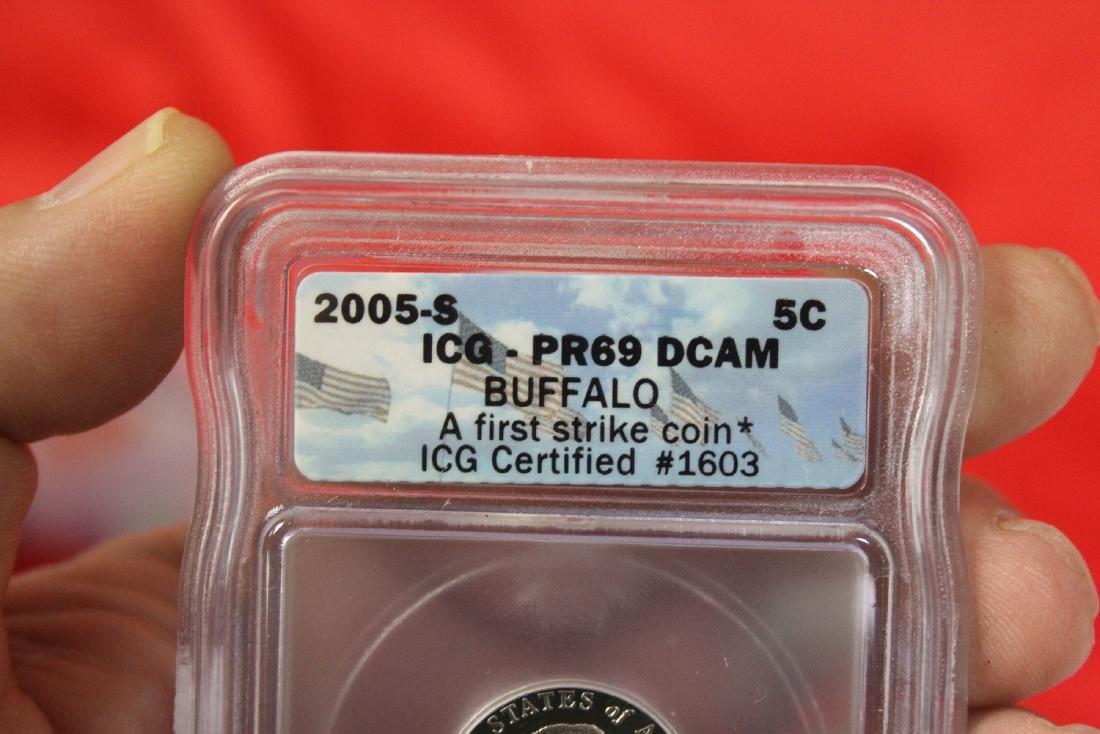 A 2005-S Graded Buffalo Nickel - 3