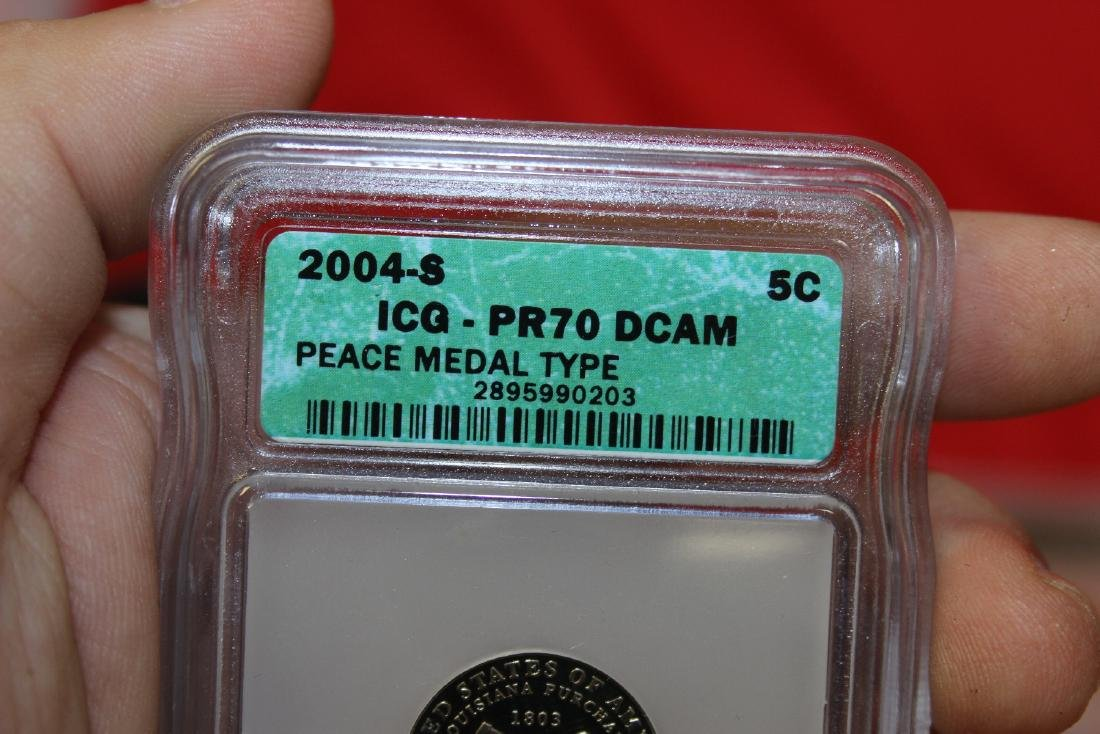 A 2004-S Graded Peace Medal Type Nickel - 3