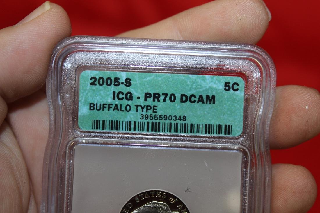 A 2005-S Graded Buffalo Type Nickel - 3