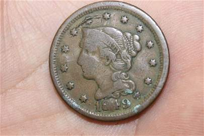 An 1849 Large Cent