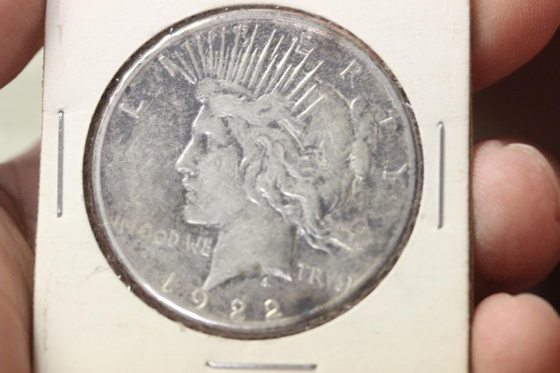 A 1922-S Peace Silver Dollar