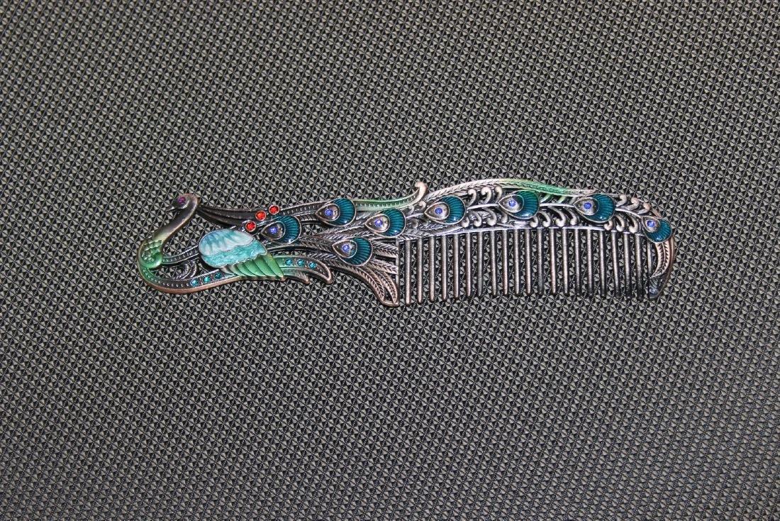 A Decorative Enamel Metal Comb