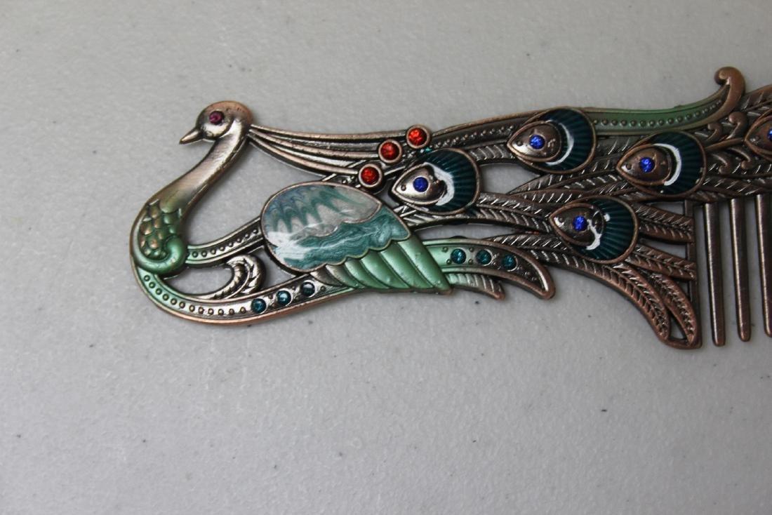 A Decorative Enamel Metal Comb - 5
