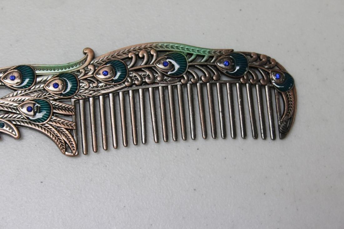 A Decorative Enamel Metal Comb - 6