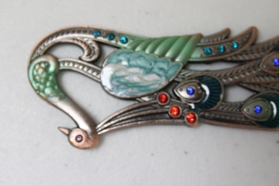 A Decorative Enamel Metal Comb - 7