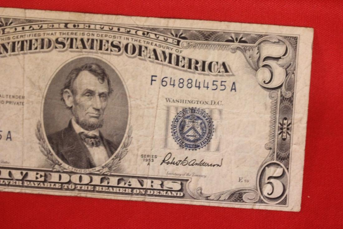 A Blue Seal $5.00 Note - 2