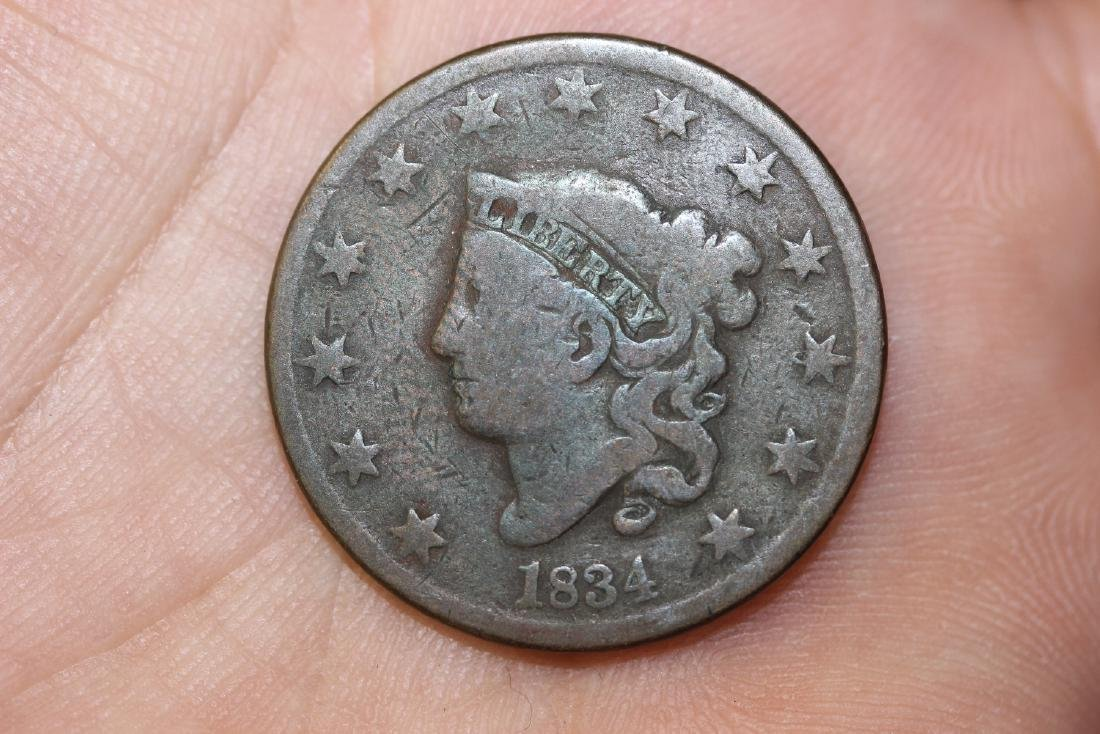 An 1834 Large Cent