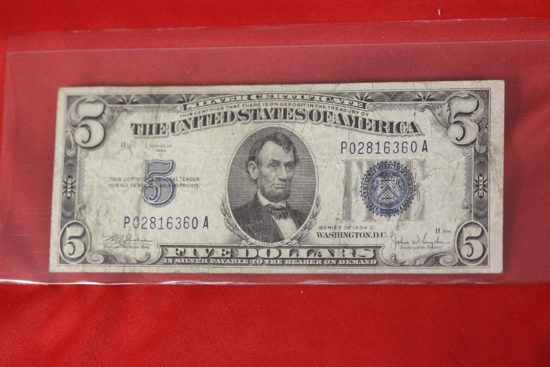A 1934 $5.00 Note