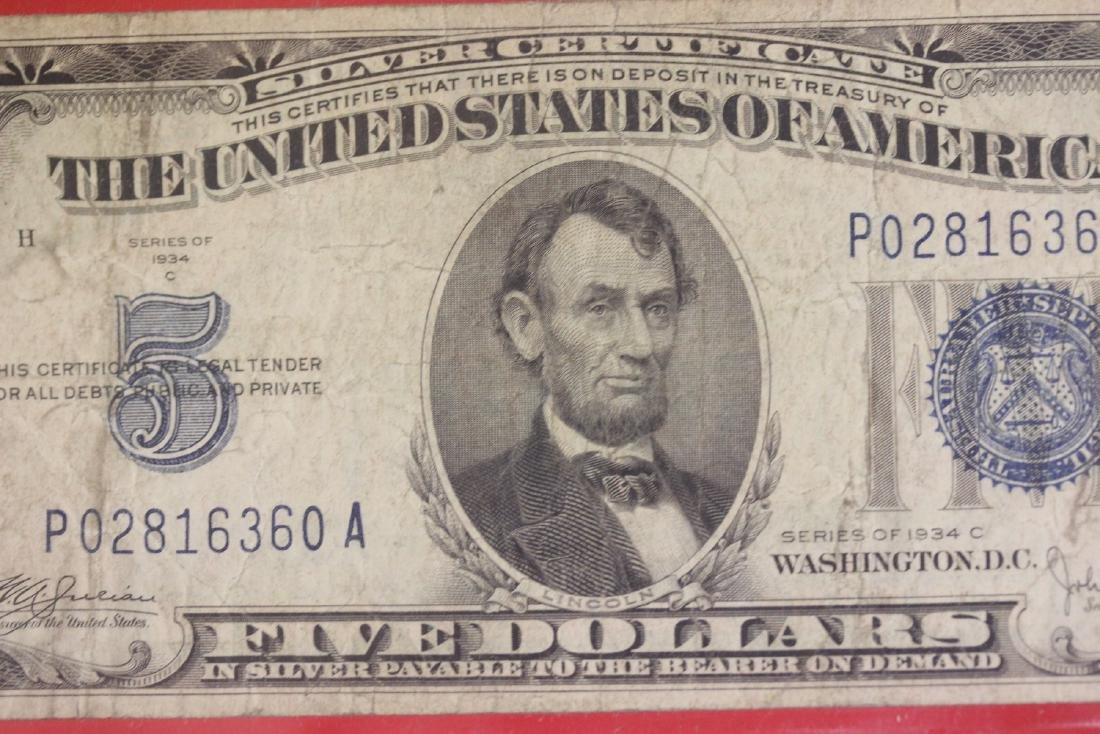 A 1934 $5.00 Note - 3