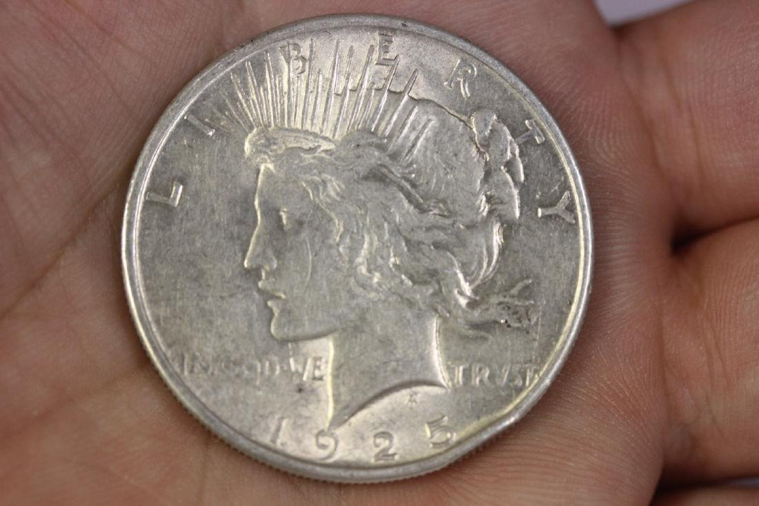 A 1925 Peace Dollar