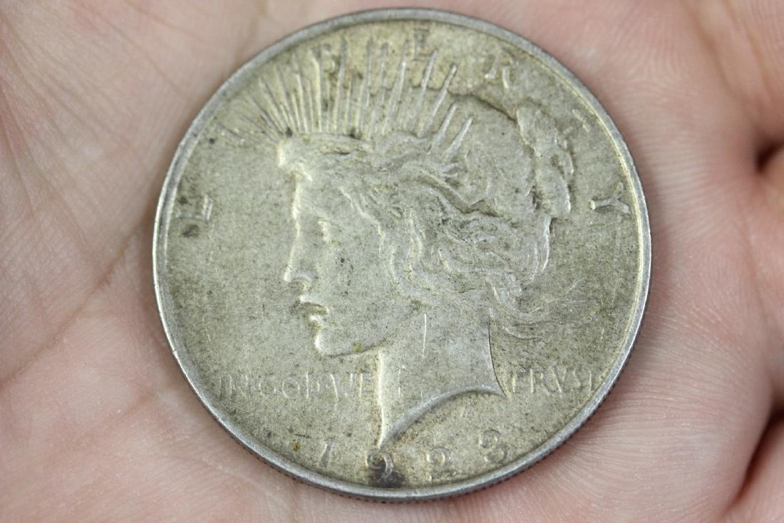 A 1923 Peace Dollar