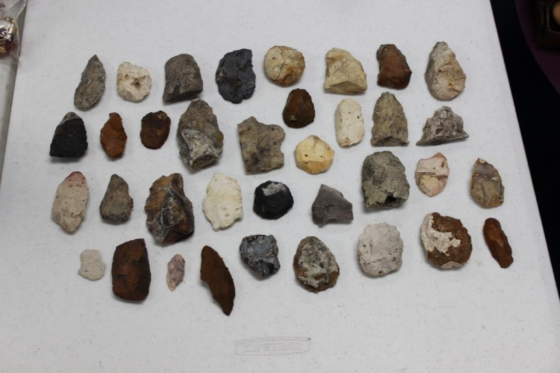 A Lot of 36 Indian Stone Tools. Indian Artifacts