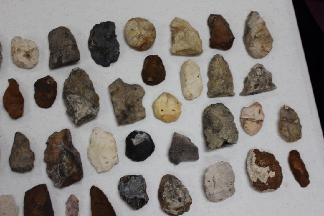 A Lot of 36 Indian Stone Tools. Indian Artifacts - 3