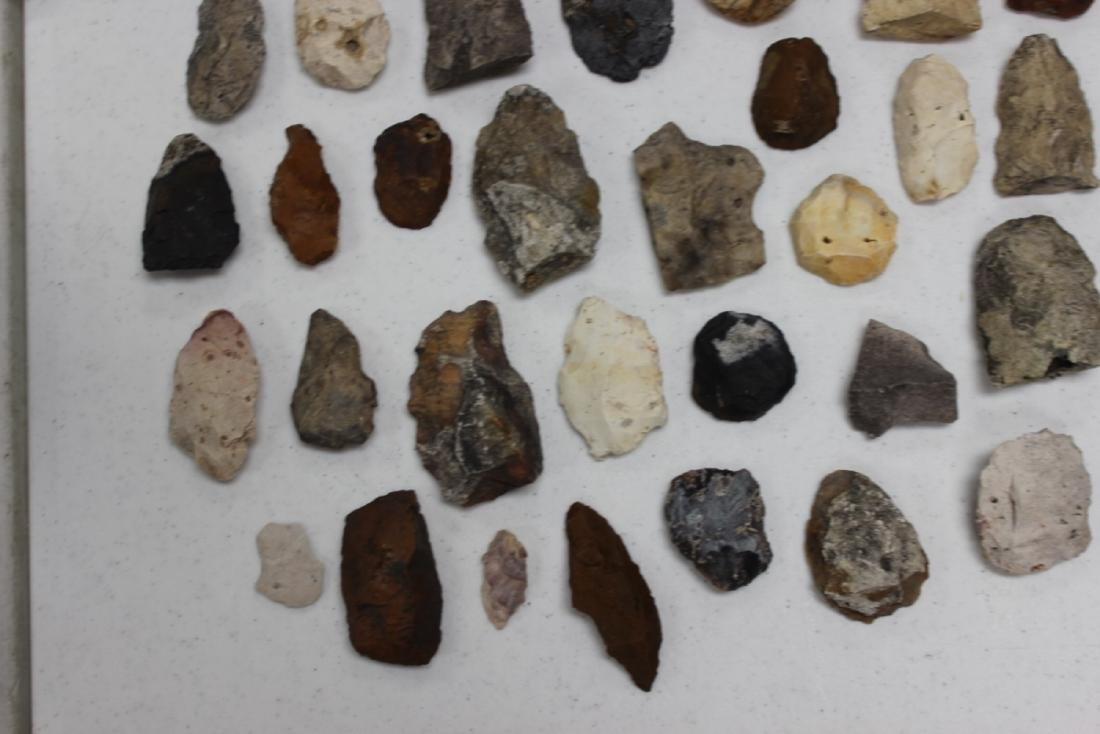 A Lot of 36 Indian Stone Tools. Indian Artifacts - 5