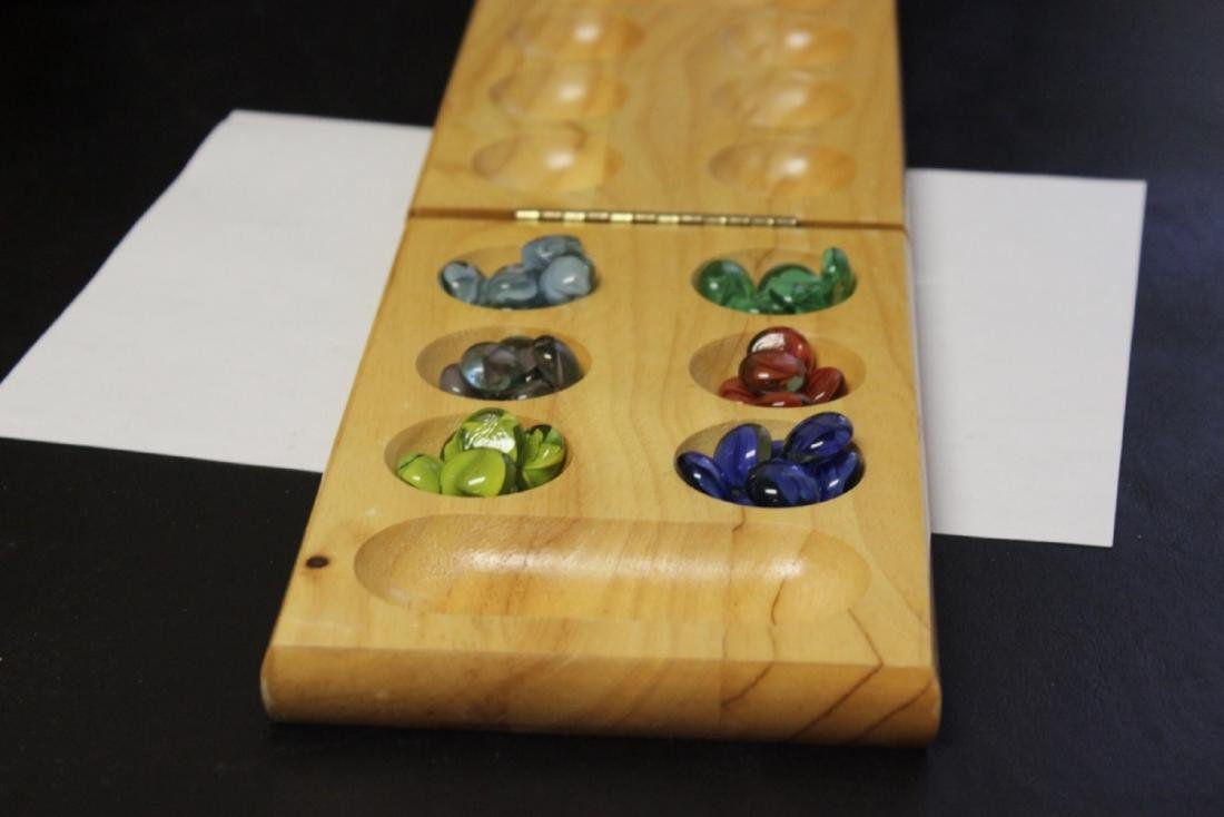 A Wooden Folding Mancala Board Game With Marbles Dec 22 2018