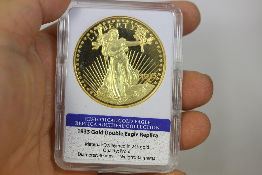 A Replica Gold Plated Coin