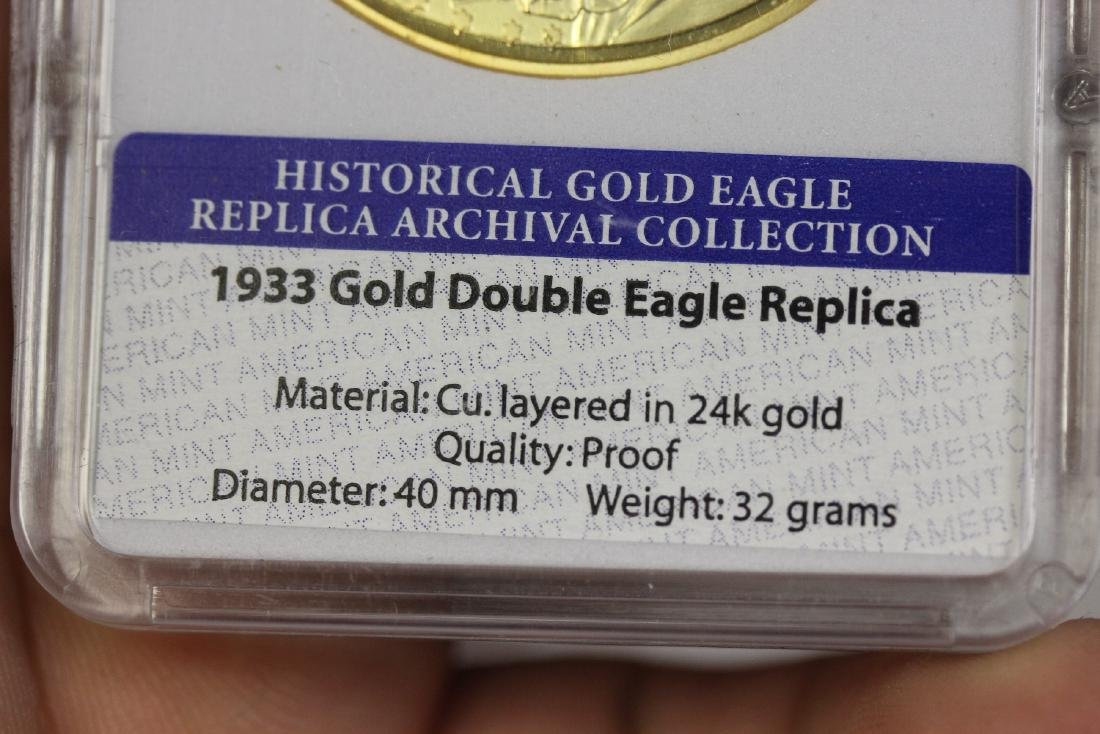 A Replica Gold Plated Coin - 2