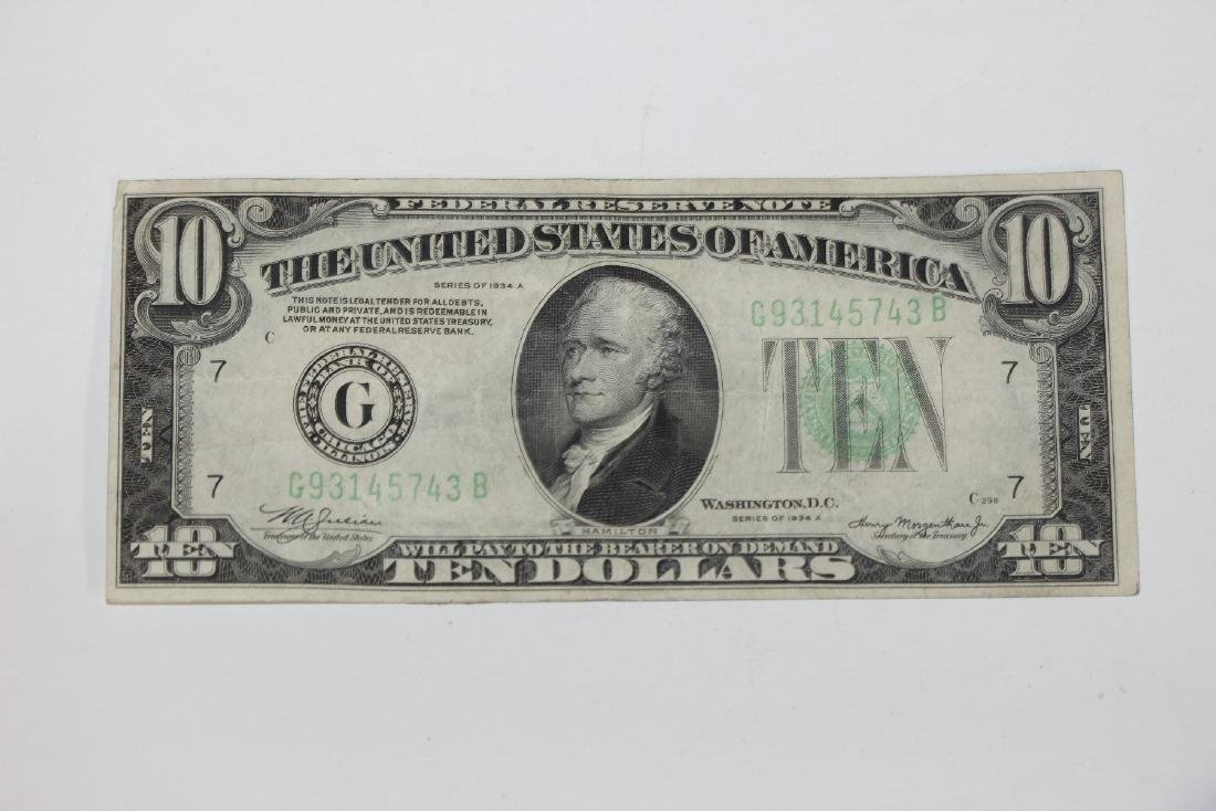 A 1934 $10.00 Note