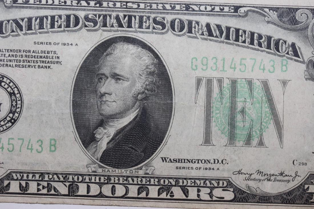 A 1934 $10.00 Note - 2